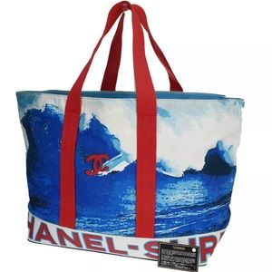 CHANEL SOLD OUT Surf Canvas Jumbo XL Maxi Tote